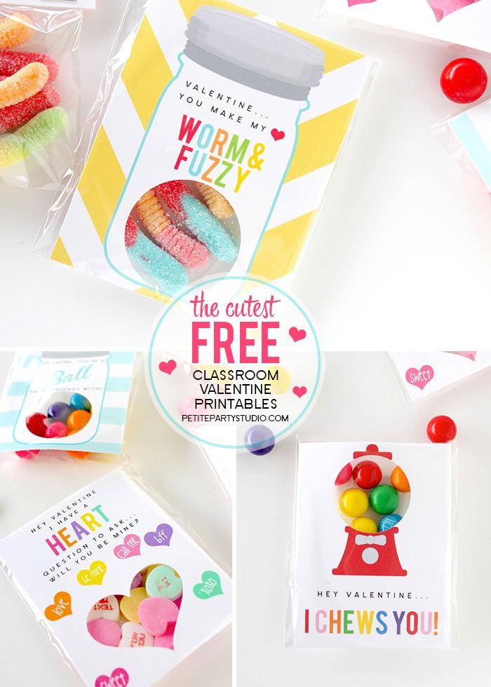 FREE Valentine's Day Class Printables Free Printable Valentine's Day Decorations