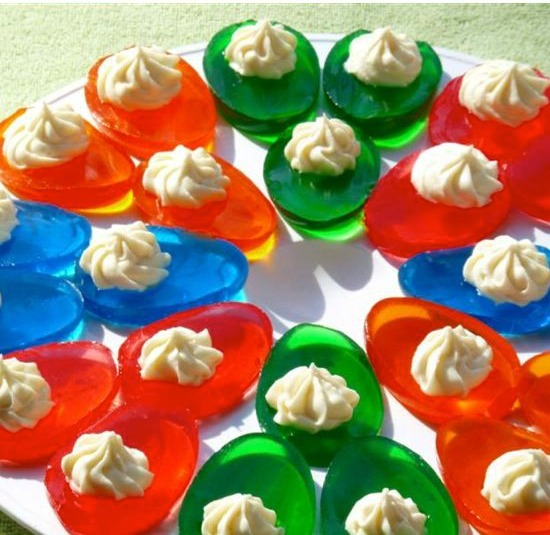 Jello deviled easter eggs vanilla cream jello easter eggs recipe by photo forumfinder Images