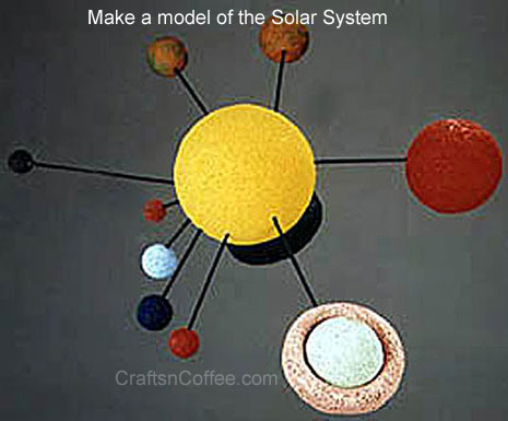 How to make a Solar System using Styrofoam balls
